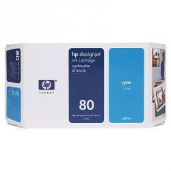 Cartouche d'encre cyan HP 80 350 ml