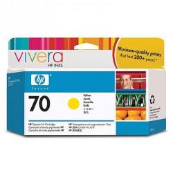Cartouche d'encre jaune HP 70 130 ml