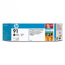 Cartouche d'encre noire mate HP 91 775 ml