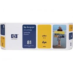 Hp 81 - cartouche d`impression - 1 x jaune