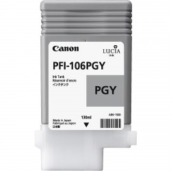 Cartouche d'encre CANON Gris Photosensible PFI-106 PGY 130Ml