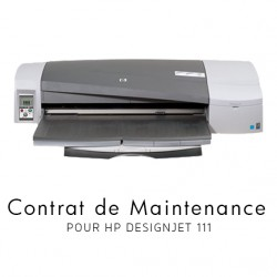 Contrat de maintenance 1 an - HP Designjet 111