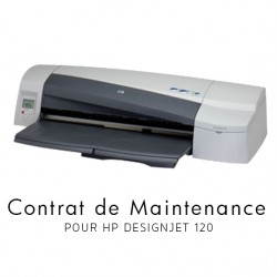Contrat de maintenance 1 an HP Designjet 120