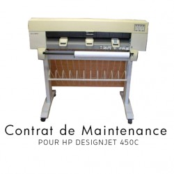 Contrat de maintenance 1 an pour HP 450C
