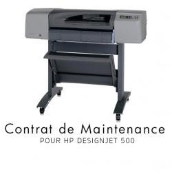 Contrat de maintenance 1 an pour HP 500