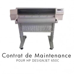 Contrat de maintenance 1 an pour HP 650C
