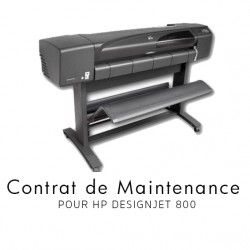 Contrat de maintenance 1 an pour HP 800