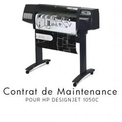 Contrat de maintenance 1 an pour HP 1050C
