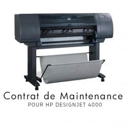 Contrat de maintenance 1 an pour HP 4000