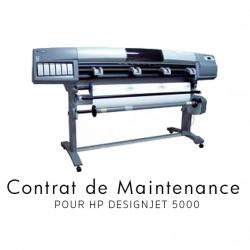Contrat de maintenance 1 an pour HP 5000