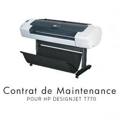 Contrat de maintenance 1 an pour HP T770