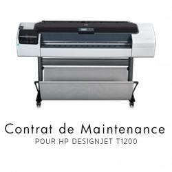 Contrat de maintenance 1 an pour HP T1200