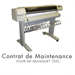 Contrat de maintenance 1 an pour HP 750 C