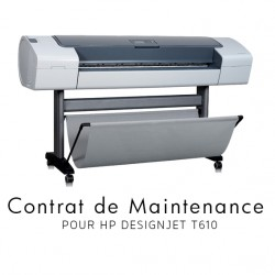 Contrat de maintenance 1 an pour HP T610