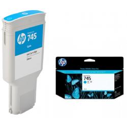 Cartouche d'encre Cyan HP 745 300ML