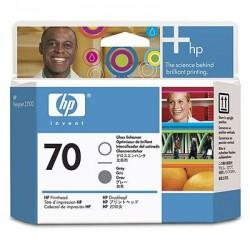 Tête d'impression Gris et Optimiseur de brillance HP 70