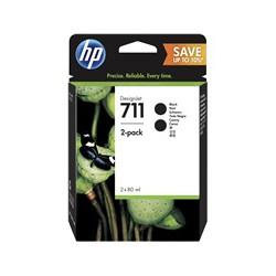 Pack 2 x Cartouche d'encre HP 711 Noir 80 ml