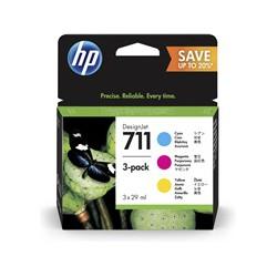 Pack couleurs Cartouche d'encre HP 711 CMJ 29 ml