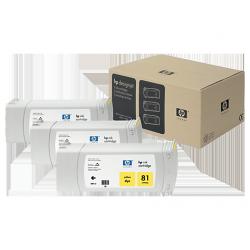 Pack x 3 Cartouches d'encre Jaune HP 81 680ml