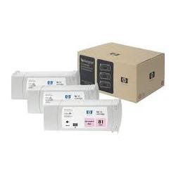 Pack x 3 Cartouches d'encre Magenta clair HP81 680ml
