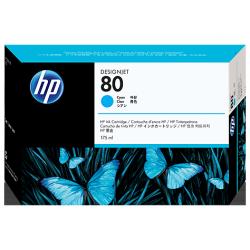 Cartouche d'encre HP 80 Cyan 175 ml