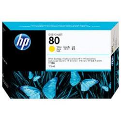 Cartouche d'encre HP 80 Jaune 175 ml