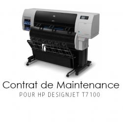 Contrat de maintenance 1 an pour HP T7100