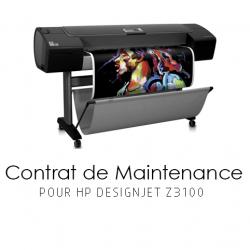 Contrat de maintenance 1 an pour HP Z3100