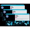 Pack 3 cartouches d'encre photo Vivid HP 771C Magenta - 775 ml