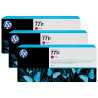 Pack 3 cartouches d'encre photo Vivid HP 771C Magenta - 775 ml