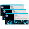 Pack 3 cartouches d'encre photo Vivid HP 771C Cyan Clair - 775 ml