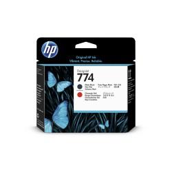 tete d'impression HP 774 noir mat/rouge chromatique