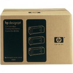 Pack x 3 Cartouches d'encre Jaune HP 90 400ml