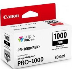 Cartouche d'encre Canon PFI-1000BK Noir photo 80 ml