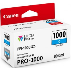 Cartouche d'encre Canon PFI-1000C Cyan 80 ml