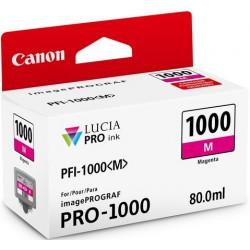 Cartouche d'encre Canon PFI-1000M Magenta 80 ml