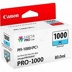 Cartouche d'encre Canon PFI-1000PC Cyan photo 80 ml