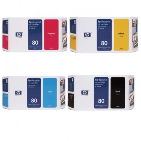 Pack Cartouche d'encre HP 80 - 350ml