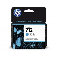 Cartouche d'encre DesignJet HP 712, cyan, 29 ml