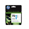 Pack de 3 cartouches d'encre DesignJet HP 712, cyan, 29 ml