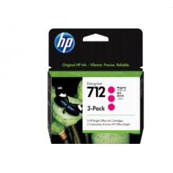 Pack de 3 cartouches d'encre DesignJet HP 712, magenta, 29 ml