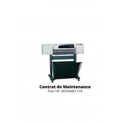 Contrat de maintenance 1 an pour HP 510