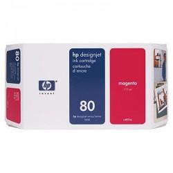 Cartouche d'encre magenta HP 80 350 ml