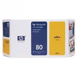 Cartouche d'encre jaune HP 80 350 ml